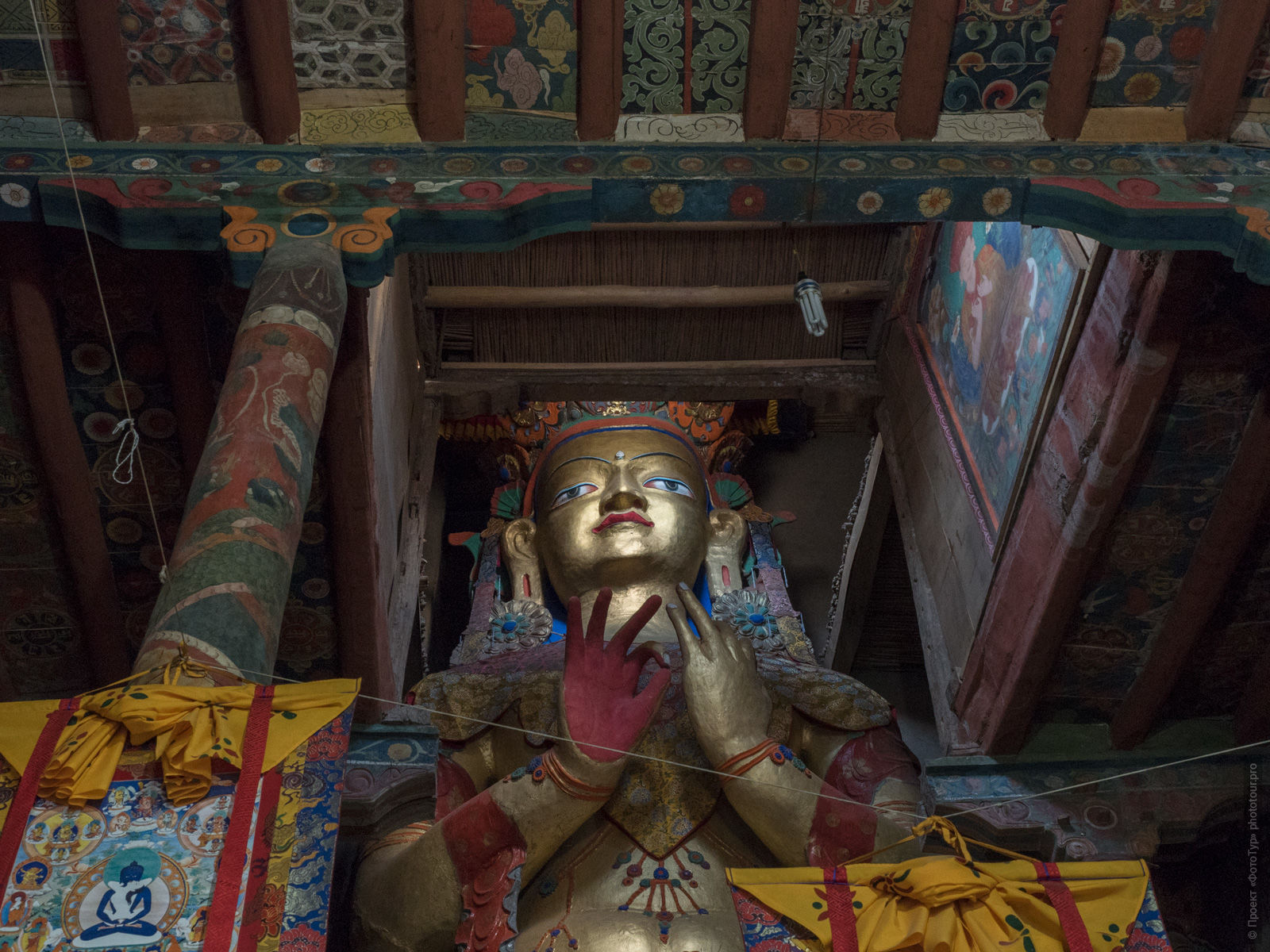 Buddha Matreya in the monastery of Basgo Gonpa. Expedition Tibet Lake-2: Pangong, Tso Moriri, Tso Kar, Tso Startsapak, Leh-Manali highway.