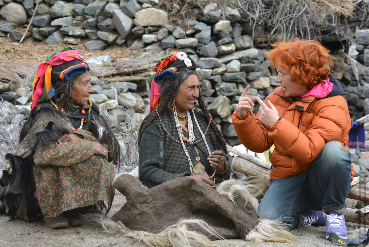 The women of Da Hanu valley. Tour Legends of Tibet: Ladakh, Lamayuru, Da Khan and Nubra, 19.09. - 28.09.2019 G.