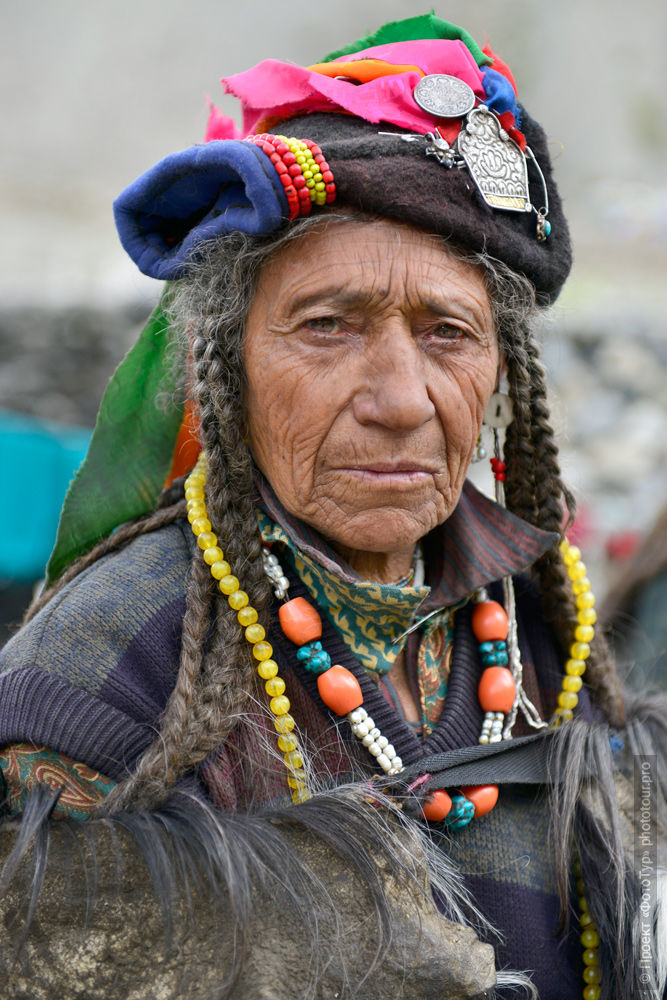 Aryan woman DHA Khan. Tour Legends of Tibet: Ladakh, Lamayuru, Da Khan and Nubra, 19.09. - 28.09.2019.