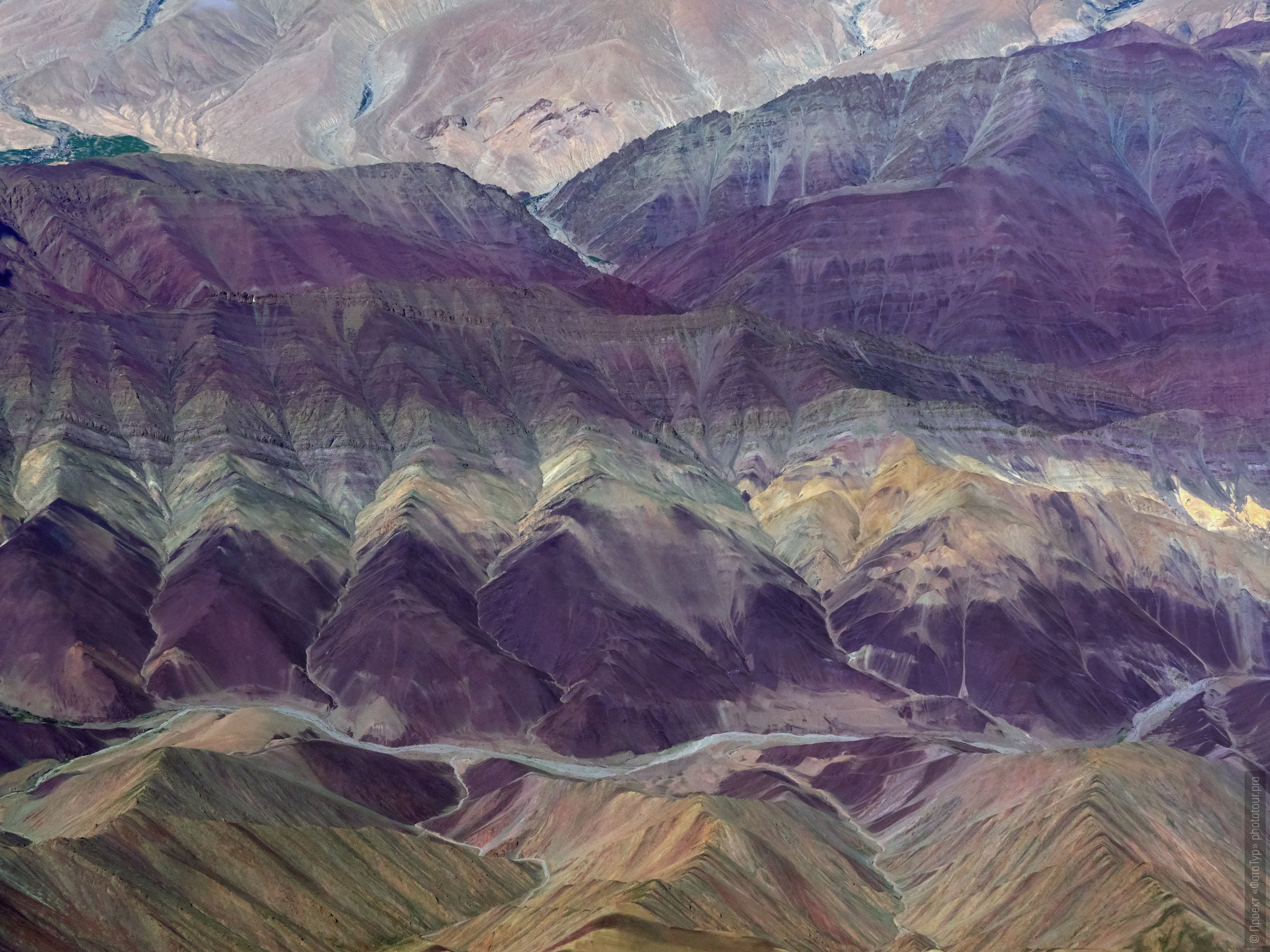 Abstract pictures of the purple mountains of Ladakh. Expedition Tibet Lake-2: Pangong, Tso Moriri, Tso Kar, Tso Startsapak, Leh-Manali highway.