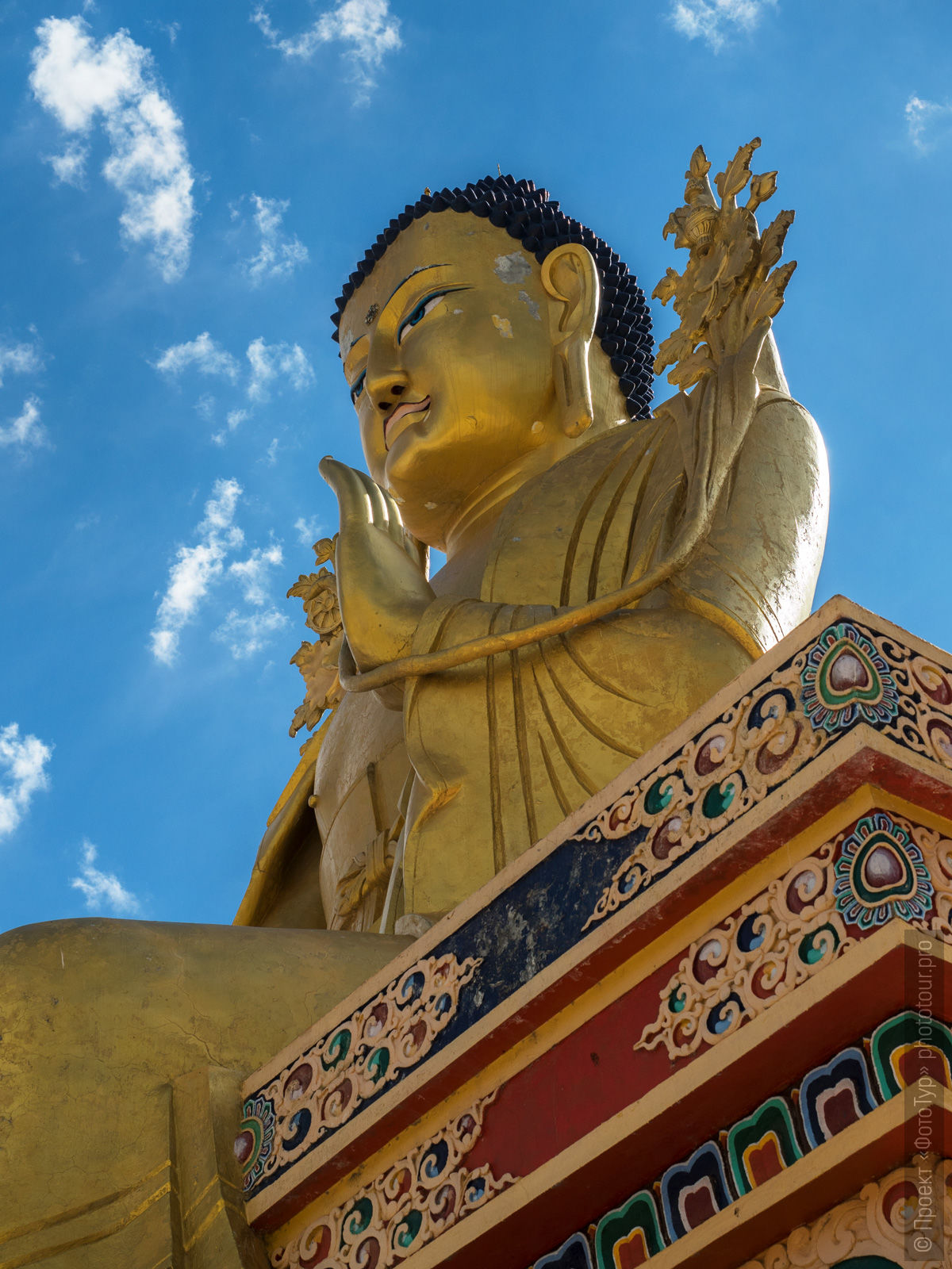 Statue of Buddha Matreya in Likir Monastery. Photo tour to Tibet for the Winter Mysteries in Ladakh, Stok and Matho monasteries, 01.03. - 03/10/2020