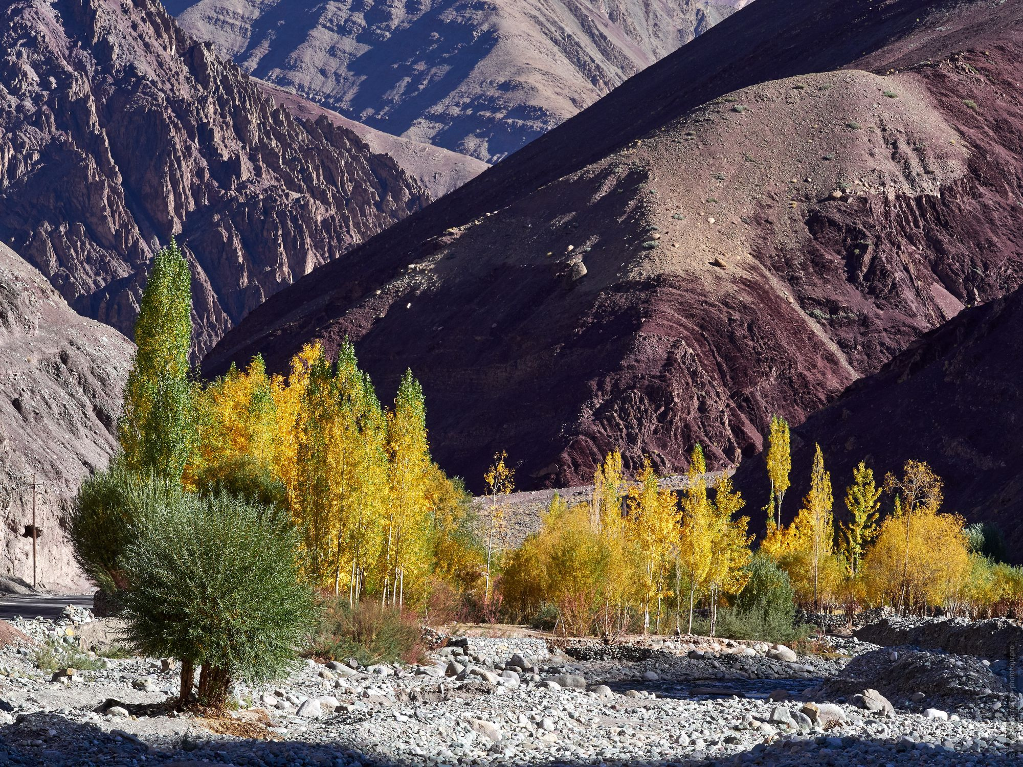 Burgundy Gorge, Ladakh. Tour Legends of Tibet: Ladakh, Lamayuru, Da Khan and Nubra, 19.09. - 28.09.2019.