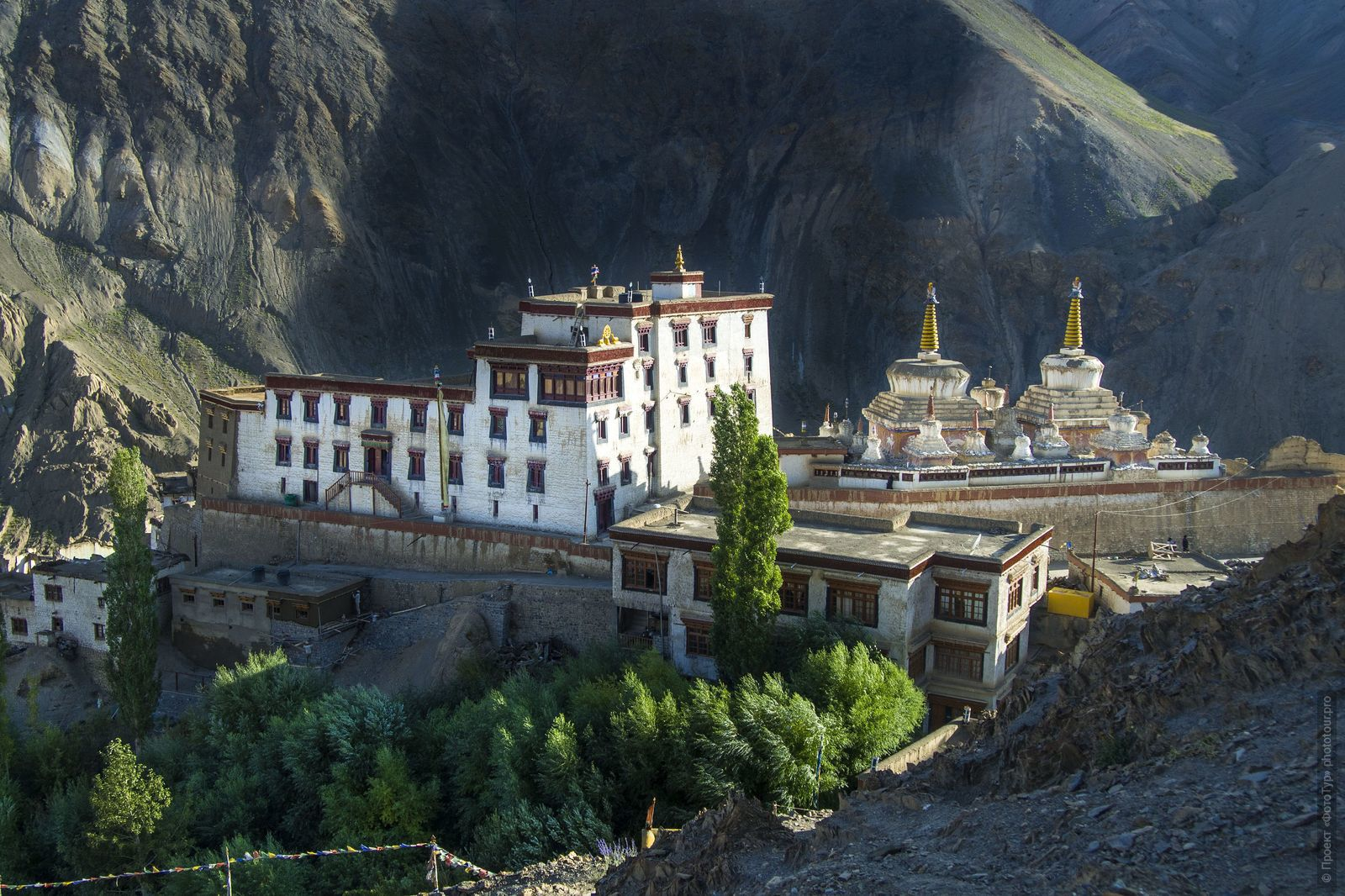Bon Monastery Lamayuru Gonpa. Tour for artists in Tibet: Watercolor-1: Watercolor painting in Ladakh with Pavel Pugachev, 04.08. - 13.08. 2019.