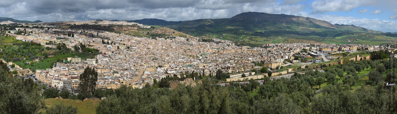 Panorama of the medina of Fez, Morocco, photo tour of Morocco, October 2018.