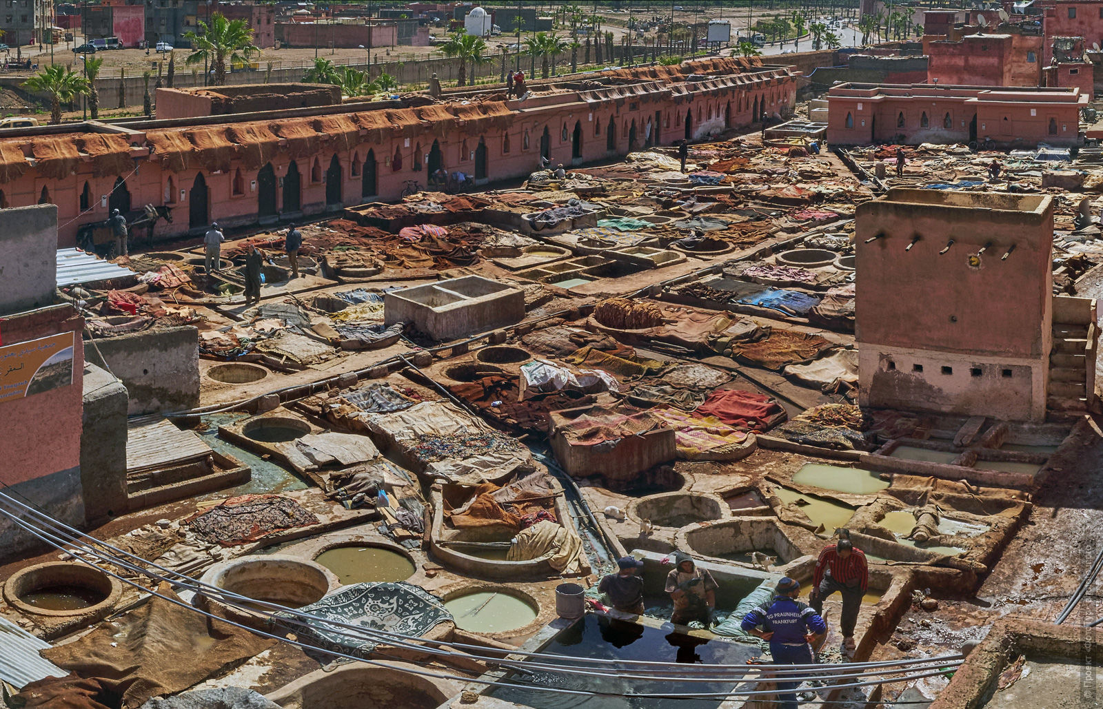 Dyeing of Marrakesh, Morocco. Adventure photo tour: medina, cascades, sands and ports of Morocco, April 4 - 17, 2020.