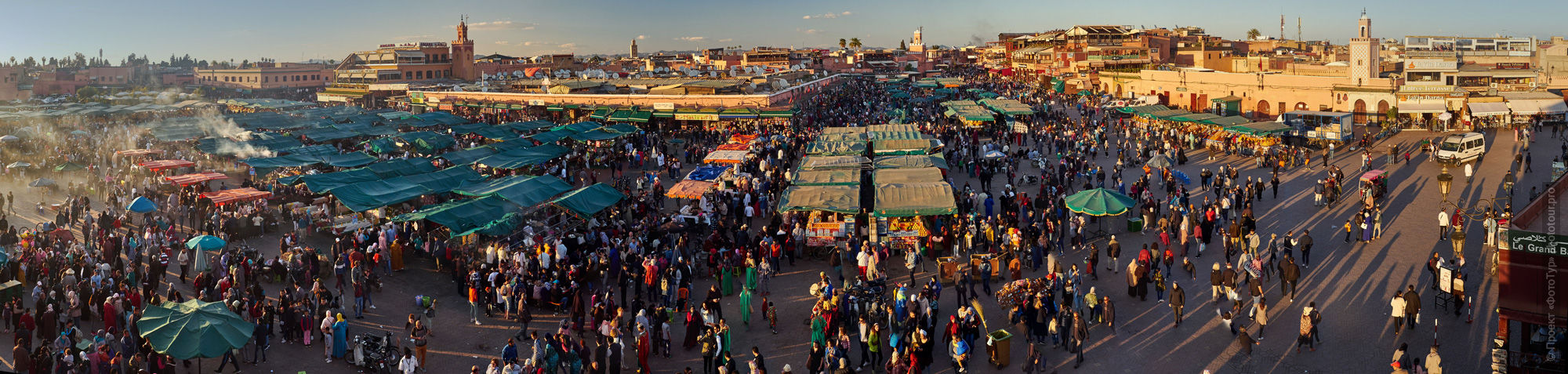 Area of Jamaâ El Fna, Marrakech, Morocco, photo tour of Morocco, October 2018.