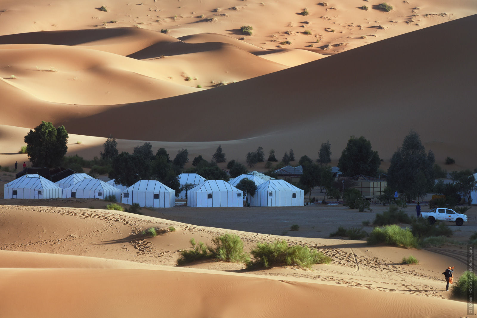 Camping in Merzouga, Morocco. Adventure photo tour: medina, cascades, sands and ports of Morocco, April 4 - 17, 2020.