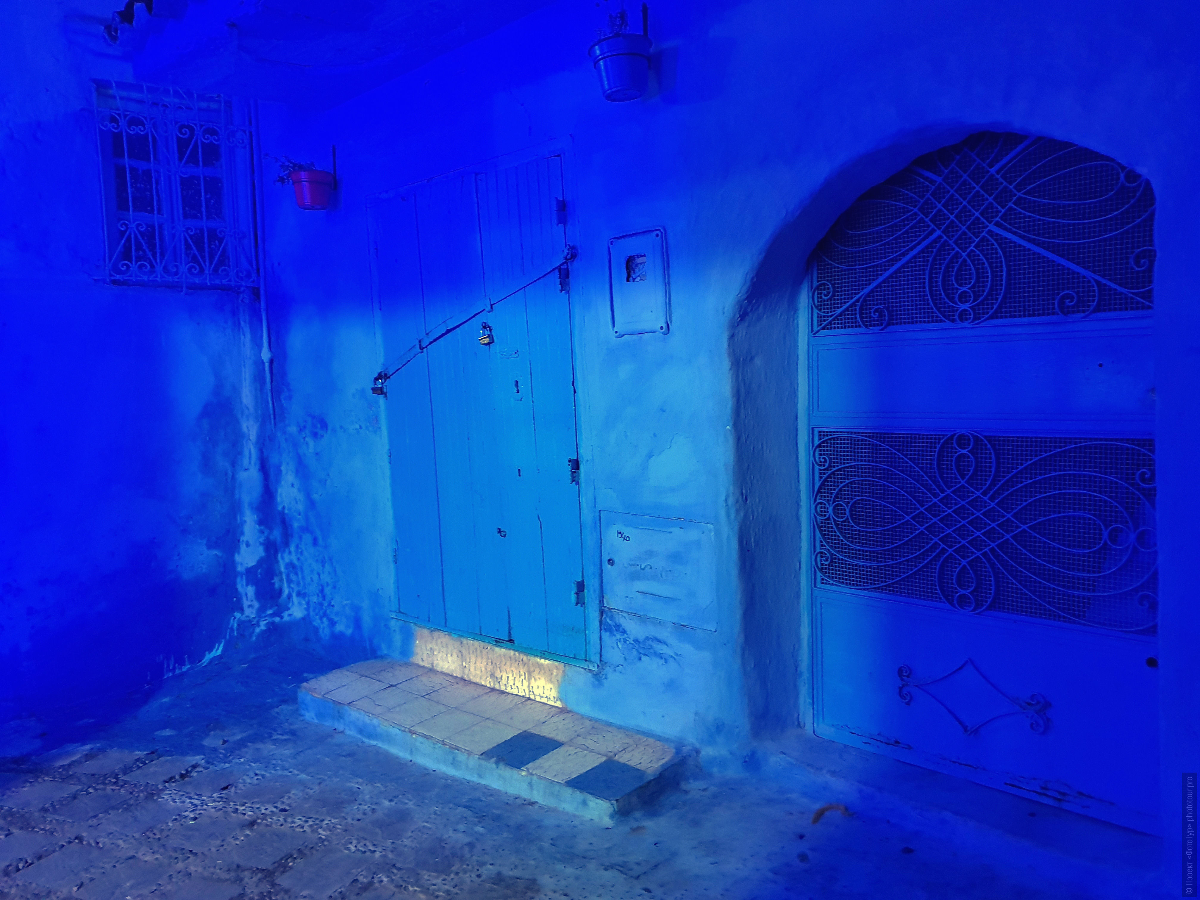 The blue of the medina of Chefchaouen, Morocco. Adventure photo tour: medina, cascades, sands and ports of Morocco, April 4 - 17, 2020.