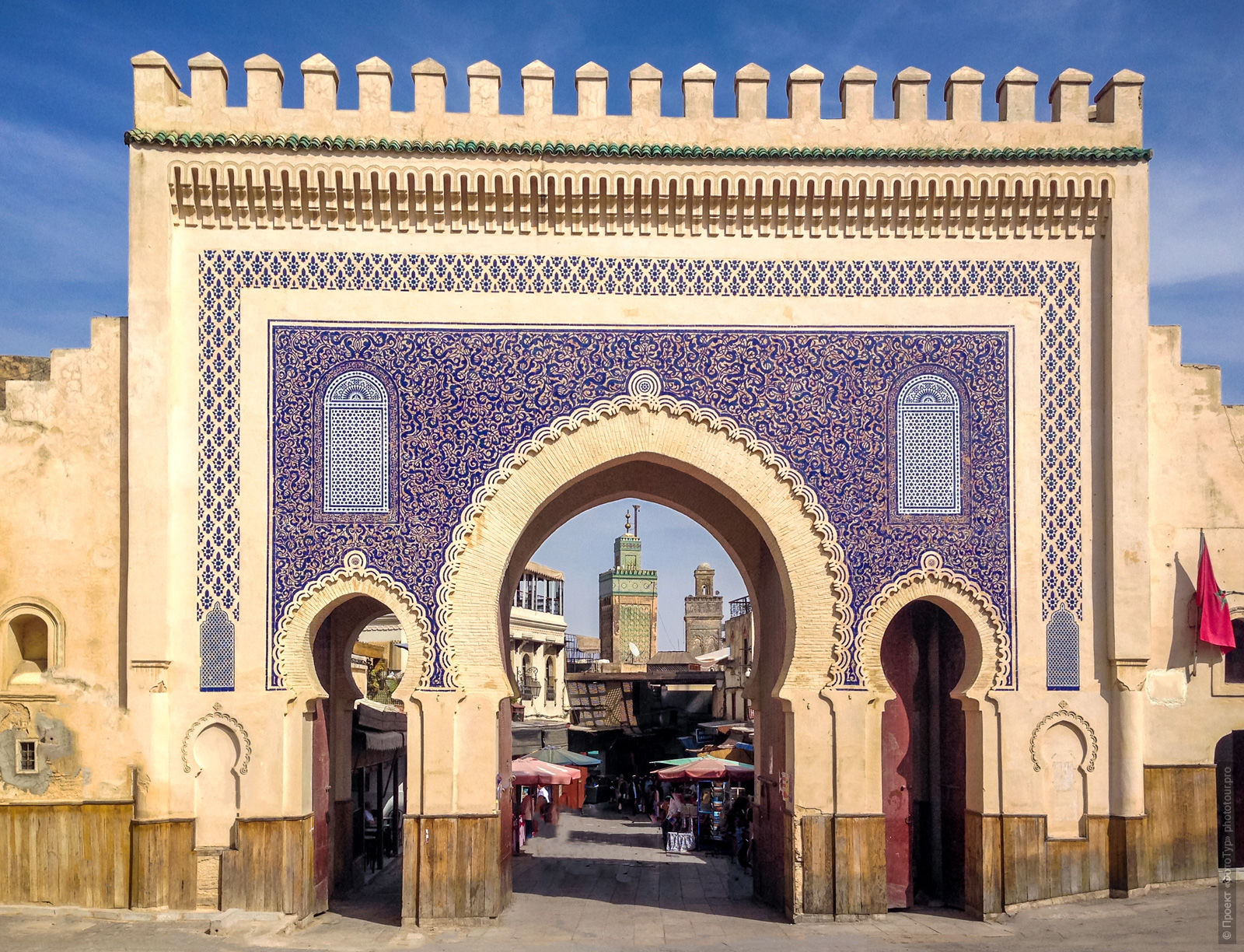Gate to the Medina of Fes el Bali, Morocco, photo tour of Morocco, October 2018.