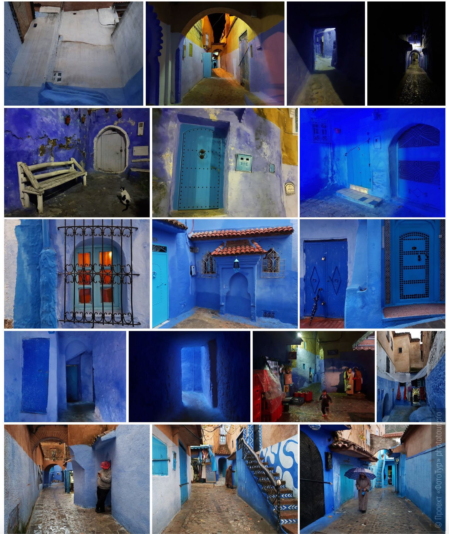 The blue city of Morocco is Chefchaouen. Adventure photo tour: medina, cascades, sands and ports of Morocco, April 4 - 17, 2020.