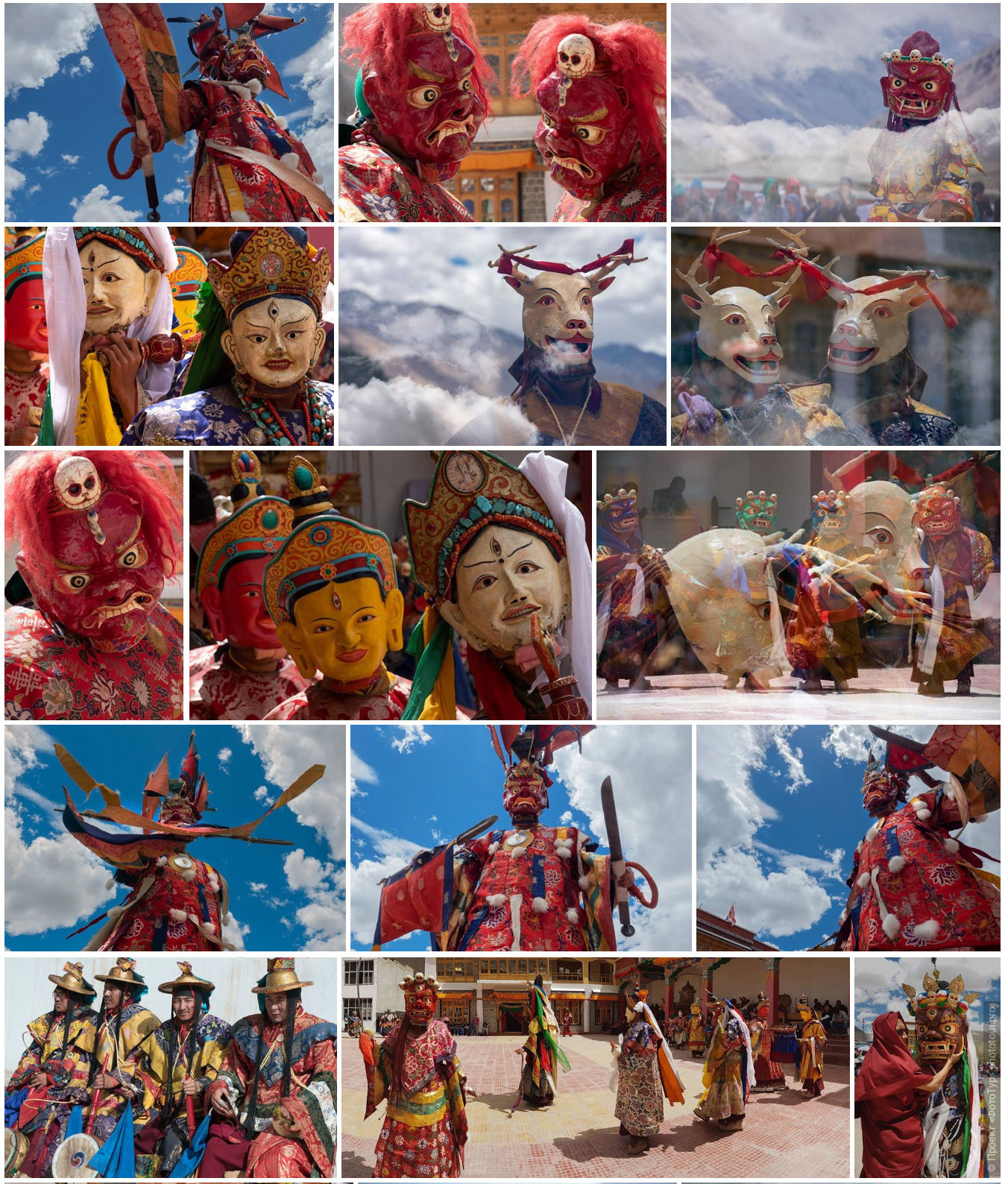 Tsam dance at the Buddhist mystery Sashikul Gustor. Photo tour / tour Tibet of Lake-1: Pangong, Tso Moriri, Tso Kar, Tso Chiagar, Dance of Tsam on Lake Pangong, 19.06. - 28.06.2021.