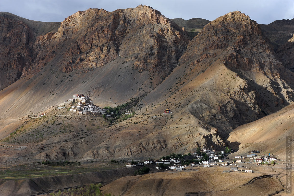 Photo Key Gompa Buddhist Monastery, Spiti Valley. Journey to Spiti Valley, in August 2017.