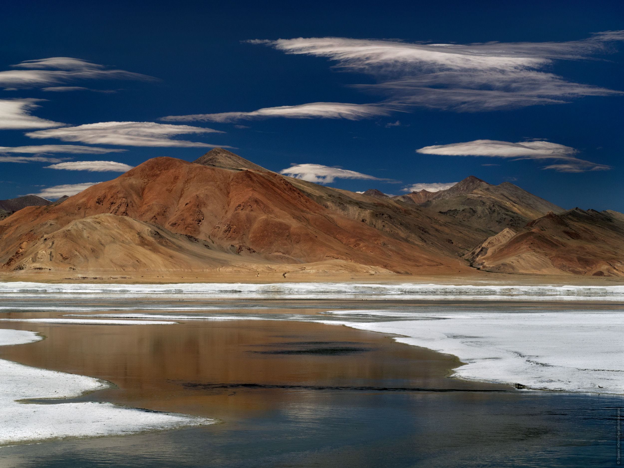Salt Lake Tso Kar, Ladakh. Photo tour / tour Tibet of Lake-1: Pangong, Tso Moriri, Tso Kar, Tso Chiagar, Dance of Tsam on Lake Pangong, 19.06. - 28.06.2021.