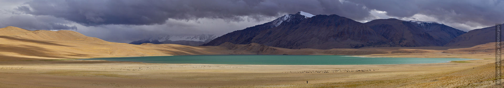 Chiagar Tso Lake. Photo tour / tour Tibet of Lake-1: Pangong, Tso Moriri, Tso Kar, Tso Chiagar, Dance of Tsam on Lake Pangong, 19.06. - 28.06.2021.