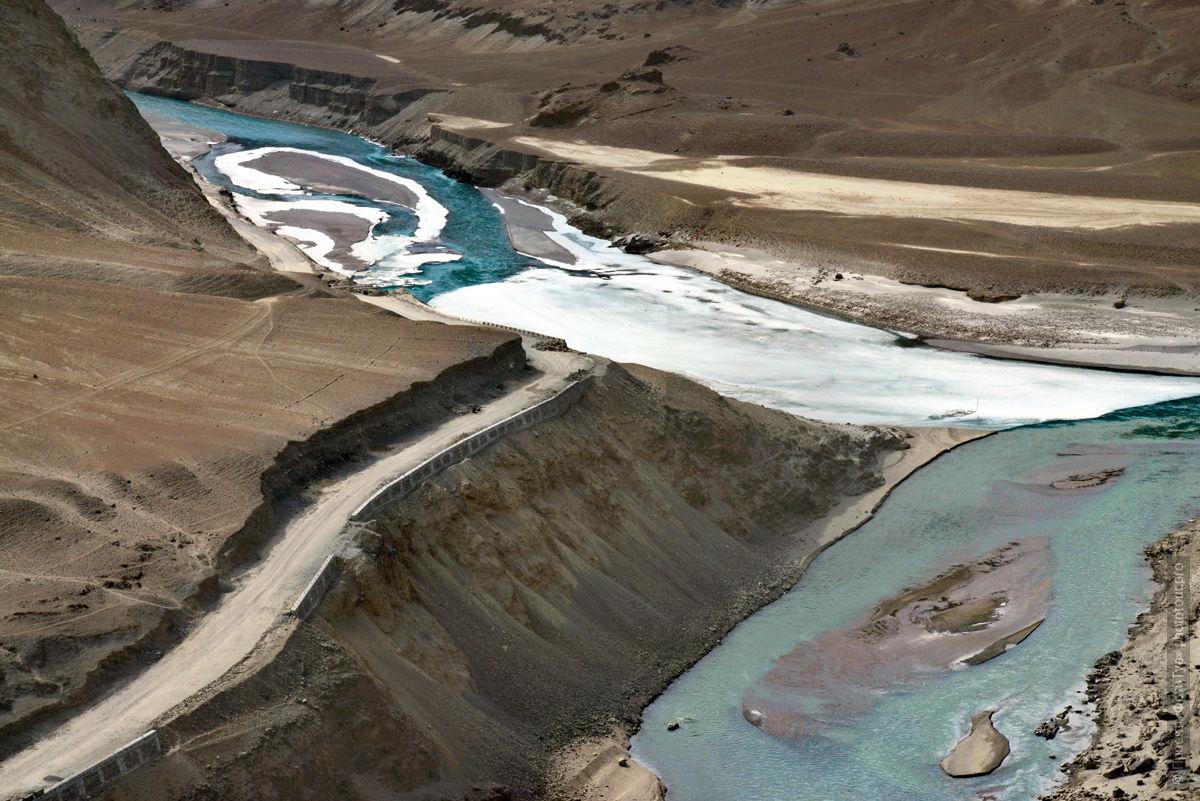 Фотография рек Инд и Занскар, Ладакх. Туры по Ладакху.
