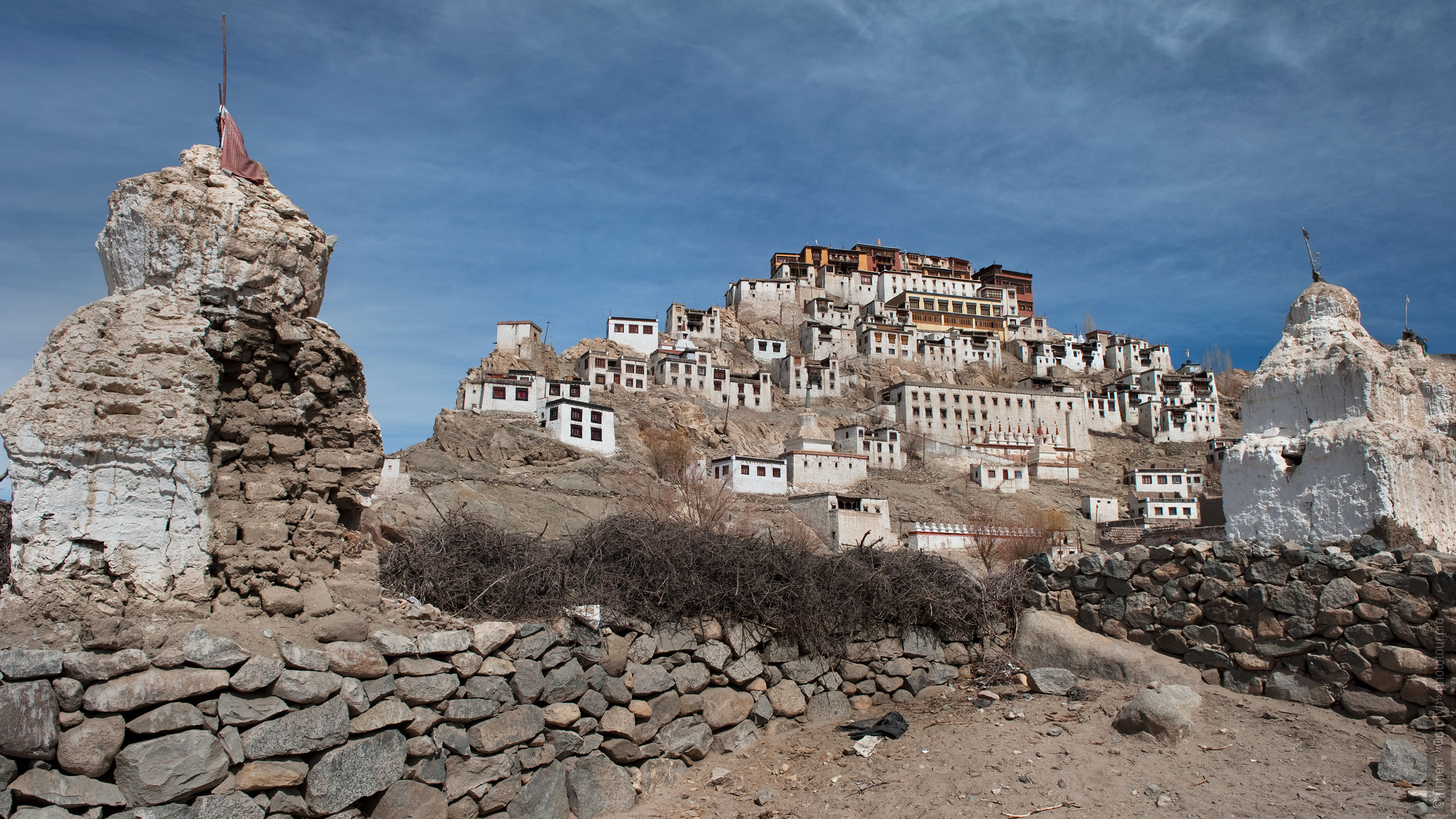 Buddhist monastery Tiksey Gonpa. Photo tour to Tibet for the Winter Mysteries in Ladakh, Stok and Matho monasteries, 01.03. - 03/10/2020