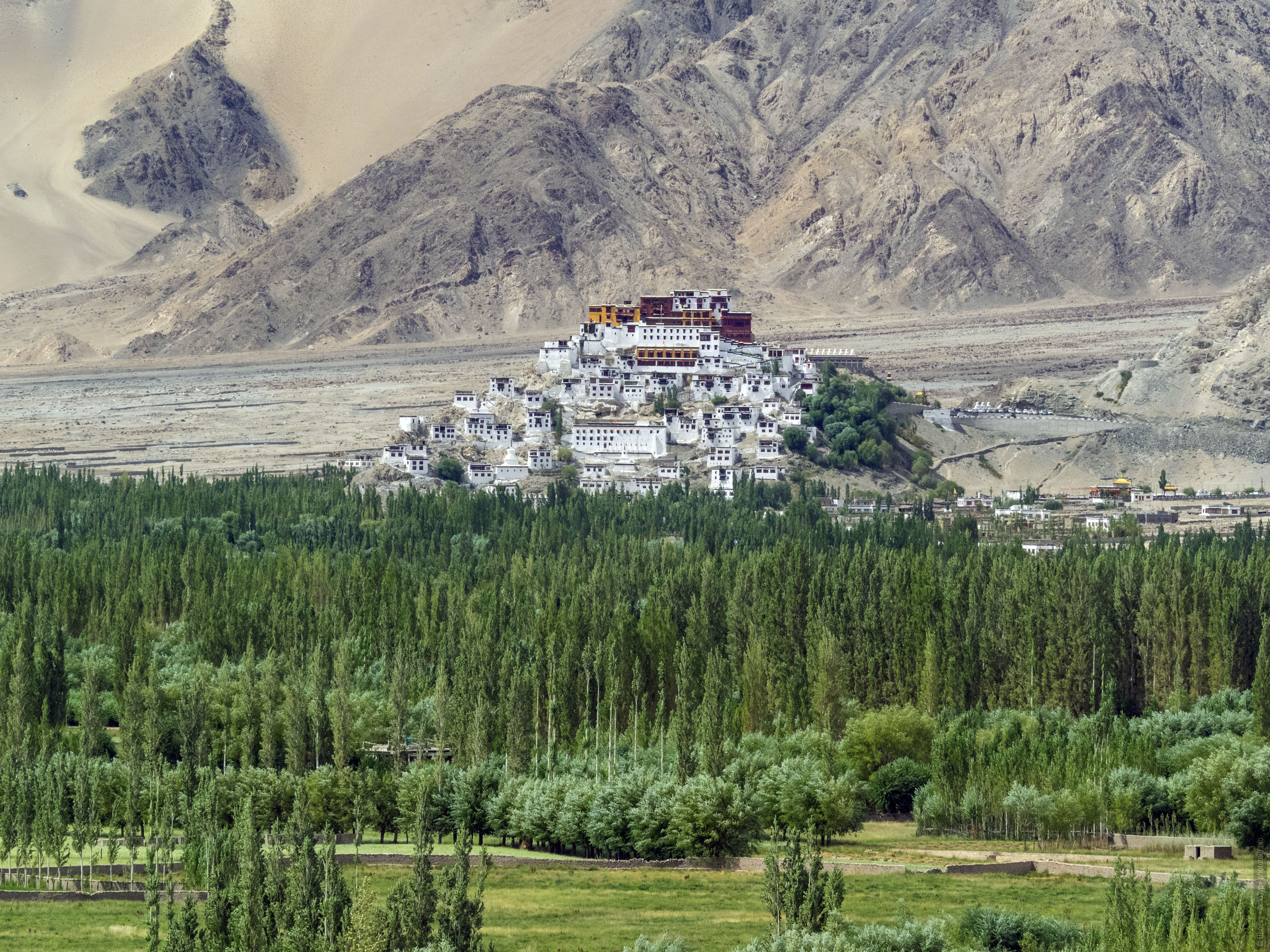 Monastery Tiksi. Ladakh Tour for women, travel and acquaintance with the culture of Tibetan matriarchy, August 31 - September 14, 2019.