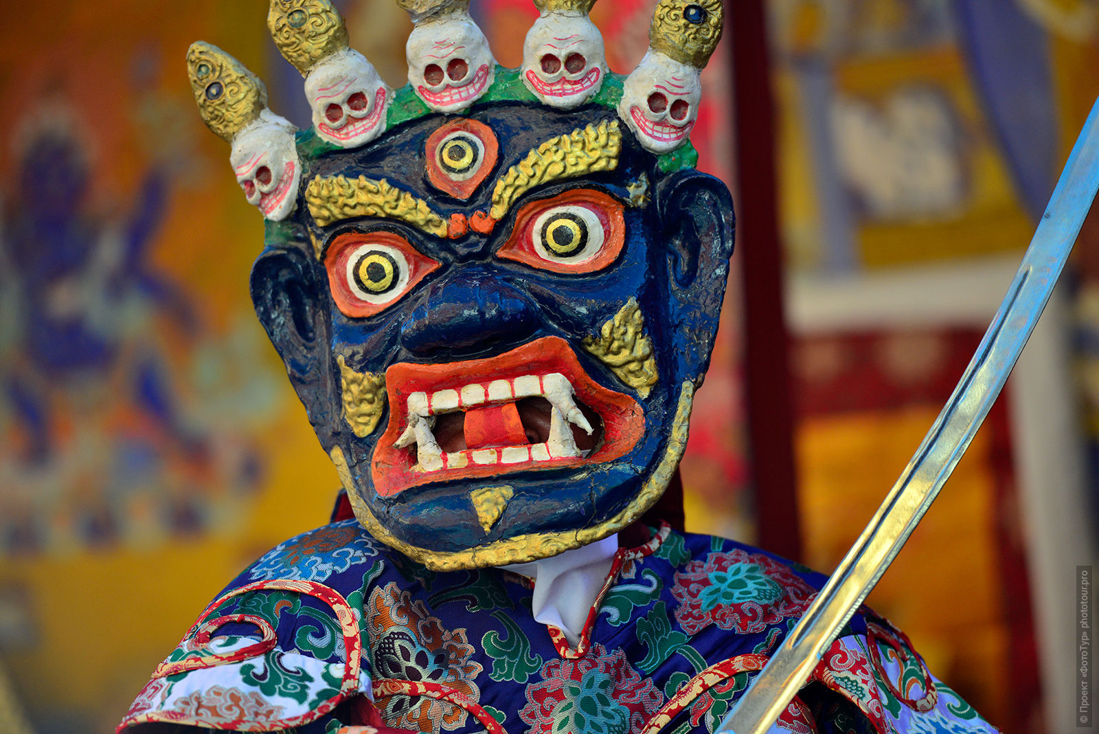 Buddhist mystery with the performance of the Dance Tsam, Ladakh. Tours in Ladakh, 2017.