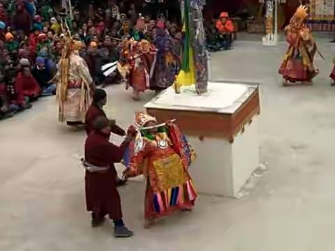 Oracles during the Dance of Tsam, Ladakh. Tours in Ladakh, 2020.